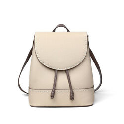 Vintage Real Leather Flap Bucket Small Backpack Rucksack Daypack Travel Purse $84.00