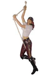 Pirate Lady Hanging With Knife Life Size Statue Resin Decor