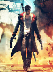 Devil May Cry 5 Dante Leather Jacket Menand039s Jacket Long Coat Trench