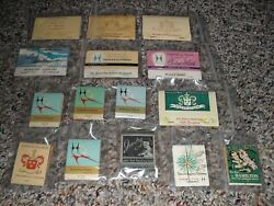 Lot Of 15 Vintage Hamilton Watch Co. Full Match-books, Super Nice Condition