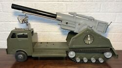Vintage Marx Mobile Long Range Atomic Cannon Truck Battery Operated Toy Nice