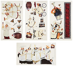 Italian Fat Chefs Wall Decals Kitchen Chef Stickers Cooking Cafe DecorationsNew