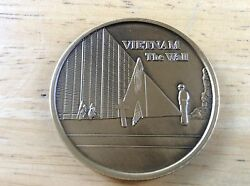1 9/16 Vietnam War Commemorative Coin The Wall Vfw Of The United States -nice