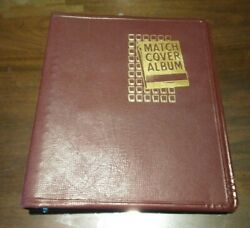 Vintage Matchbook Cover Album W/150+ Match Book Covers