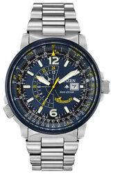 Citizen Eco-drive Menand039s Promaster Nighthawk Blue Angels 42mm Watch Bj7006-56l