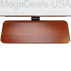 Versa Tables Basic Keyboard Arm And Tray 24 X 10 Sliding Tray Cherry Bka 2410