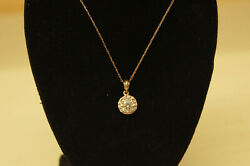 18k Rose Gold 1ct. Diamond Charm Pendant Necklace Jewelry 1012a Video