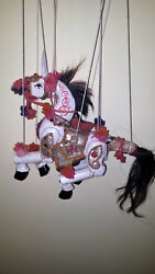 Vintage Horse Puppet Hand Carve/paint Wood Articulated Marionette Artisan Rare