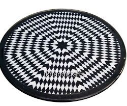 Black Stone Marble Inlay Table Top Decent Pattern Dining Table Geometrical Work