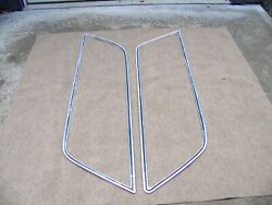 1976 Chrysler Station Wagon Side Chrome For Rear Q Panel Windows Both L And R Side