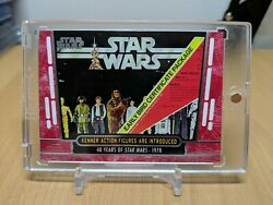 Topps Star Wars 40th Anniverary - Base 1/1 Red Parallel - Kenner Action Figures