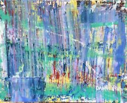 Large Contemporary Original Modern Abstract Colorful Painting Art Dan Byl 4x5ft
