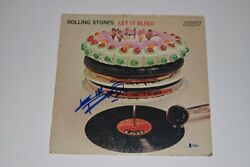 Keith Richards Signed The Rolling Stones Let It Bleed Record Album Beckett Coa