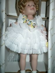 Shirley Temple Baby Take A Bow Porcelain Doll Danbury Mint 10 Inch