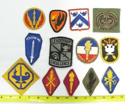13 Vintage Ww Ii/vietnam/current Us Army School Patches 2f2
