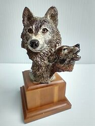Masterworks Pewter Wolf Figurine Night Song Sedlow 1993 Limited Edition Signed