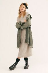 Nwt Free People Forever Free Cotton Tiered Jacket Size Large