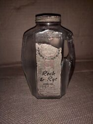 Rare Antique Liquor Bottle Rock And Rye Cordial W. Virginia Tax Stamp 1868