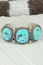 Turquoise And Sterling Silver Bracelet - Calvin Martinez