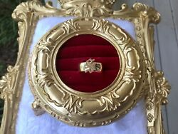 Newly Converted 14k Yellow Gold Old English Letter S On 14k Wide Band Ring