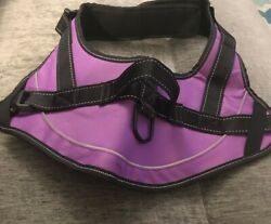 Voopet Dog Harness No Pull Easy Control Purple Black XL Reflective Oxford NEW