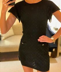 New Authentic Knit Dress In Black Size 38