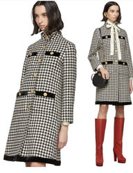 Houndstooth Coat Jacket-with Tags- Rrp5600 Aud