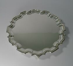 Antique English Silver Plated Cocktail Or Drinks Tray / Salver C.1910