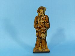 Marx Tin Lithograph Toy - Pilot With Orders - 75 Pts - Soldiers Of Fortune