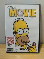 The Simpsons Movie Dvd, 2007, Widescreen Excellent