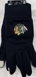 Chicago Blackhawks Texting Gloves Nwt Nhl Authentic Osfa Forever Collectibles