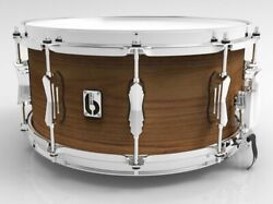 British Drum Co. 14 X 6.5 Big Softy Snare Drum Tulip / Cherry Blended Shell