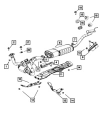 Genuine Mopar Exhaust Pipe And Converter 52124345ab