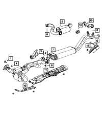 Genuine Mopar Exhaust Pipe And Converter 5290722ae