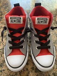 Converse All Star Kids Shoes Size US 3 New No Box Red And Grey $27.99
