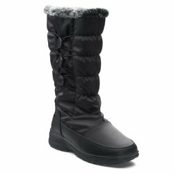 NEW TOTES Women#x27;s Paige Winter Snow Boots Waterproof Faux Fur Black Free Ship $37.99