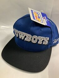 Vintage Dallas Cowboys Snapback Hat Spell Out New W/ Tags Old Stock