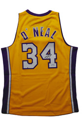 Shaquille Oand039neal Los Angeles Lakers Signed Hwc Mitchell And Ness Jersey Shaq Psa