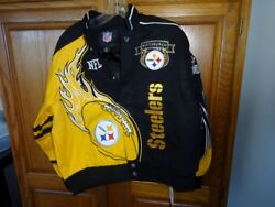 Pittsburgh Steelers Youth O Small Adult Jacket Sizexxl Youthor Fits Small Adult