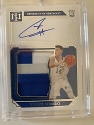2019-20 National Treasures Silhouette Tyler Herro Rpa /99 Rookie Auto Patch Mint
