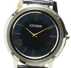 Citizen Eco Drive Ar5020-01l Navy Dial Solar Powered Menand039s Watch_571020