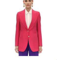 Pink Cady Crepe Wool And Silk Jacket Blazer-with Tags- Rrp4300 Aud