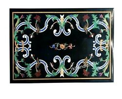 36 X 48 Inches Multi Stones Art At Border Dinning Table Top Marble Hall Table