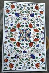 Marble Dining Table Top Semi Precious Stone Inlaid Hallway Table For Home Decor