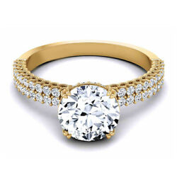Solid 14k Rose Gold 0.90 Ct Real Round Diamond Women Engagement Ring Size M N O