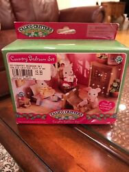 Calico Critters Country Complete Bedroom Furniture Set Very Rare 2009
