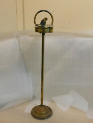 Bradley And Hubbard Standing Parrot Ashtray And Match Holder Cast Iron Bronze Tone