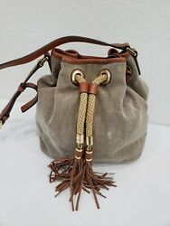 Michael Kors Canvas Bucket Bag With Crossbody Strap READ $39.00