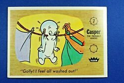 1960 Fleer Casper - 7 Golly I Feel All Washed Out - Ex Condition