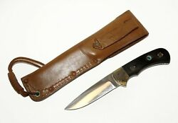 '80s 6025 Nicker Solingen Germany Fixed Blade Hunting Knife And Sheath Cwo1